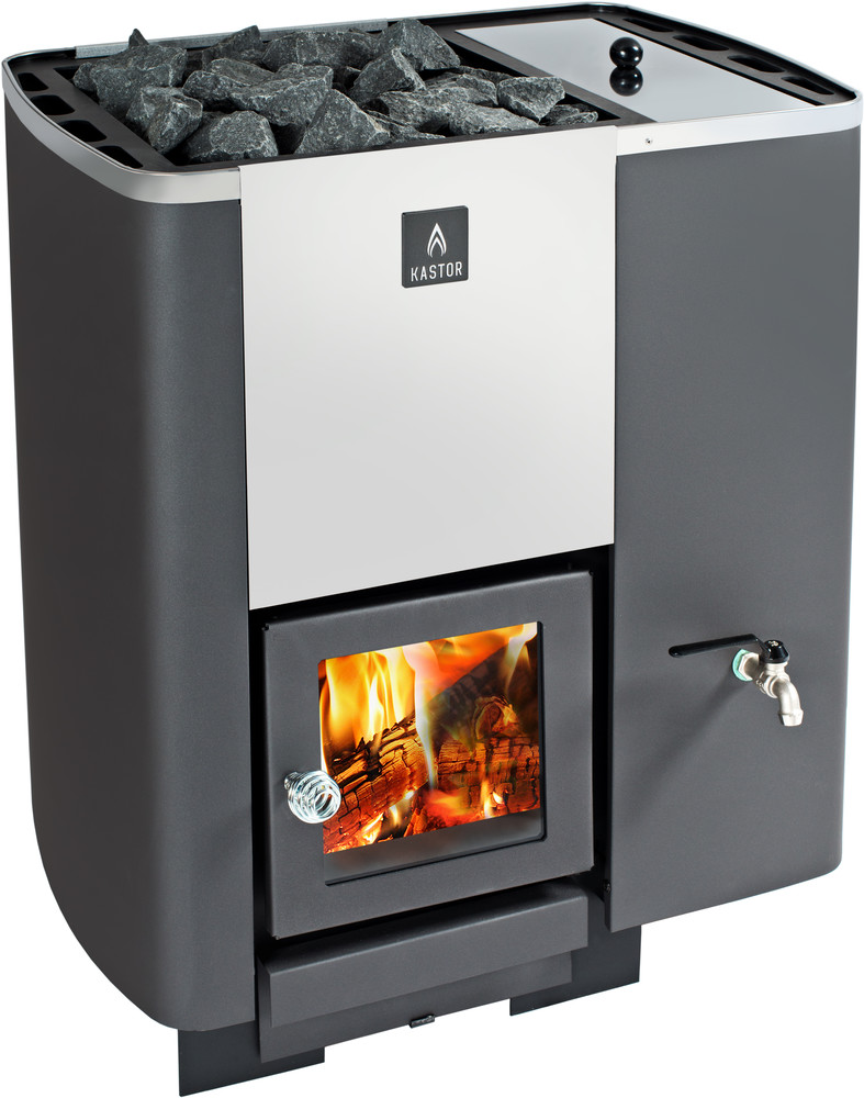 Kastor Karhu PK 27 VO Wood Burning stove with water tank (right ...