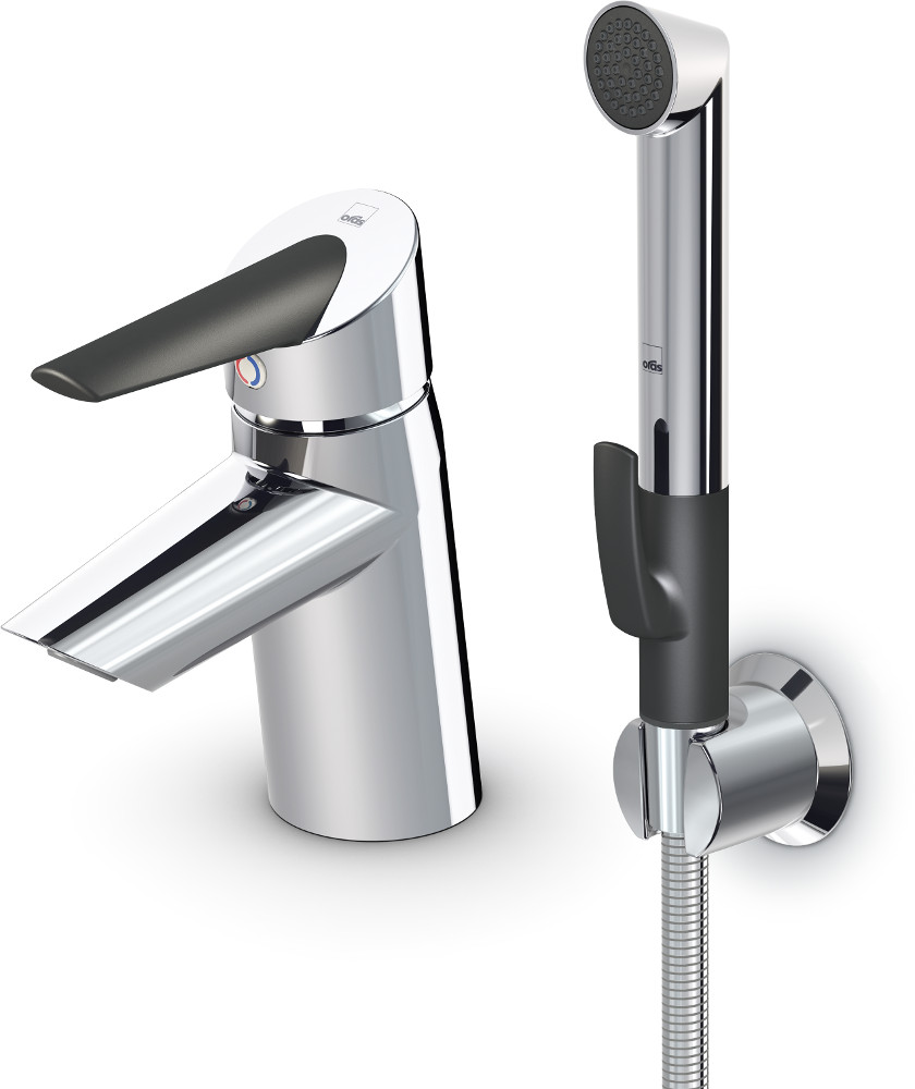 Storslået Oras Optima 2712F Washbasin faucet, with Bidetta hand shower BC28