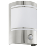 Eglo 30192 Wall Light Cerno With Detector Steel IP44