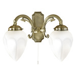 Eglo 82745 Wall Light Imperial 2-Piece Bronze, White Glass