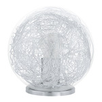 Eglo 93075 Table Light Luberio Silver, Clear, Glass