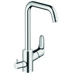 Hansgrohe Focus Single lever kitchen mixer 260 with device shut-off valve 31823000