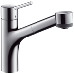 Hansgrohe Talis S Single lever kitchen mixer with pull-out spray 32841000