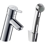 Hansgrohe Talis S2 single lever basin mixer set with Bidette hand shower 32140