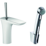 Hansgrohe PuraVida single lever basin mixer set with Bidette hand shower 15275400