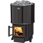 Kota Luosto Wood burning stove black enamel-lined 8-20m3