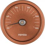 Rento Sauna thermometer in aluminium, copper brown
