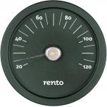 Rento Sauna thermometer in aluminium, juniper green