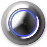 Spore True LED Illuminated Doorbell Button Aluminum/Blue