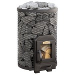 Stoveman Wood Burning stove 13R round, with glass door (6-13m3)