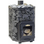 Stoveman Wood Burning stove 16 angular, with glass door (8-16m3)
