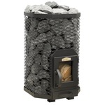 Stoveman Wood Burning stove 13 angular, with glass door (6-13m3)