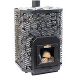 Stoveman Wood Burning stove 24 angular, with glass door (16-24m3)